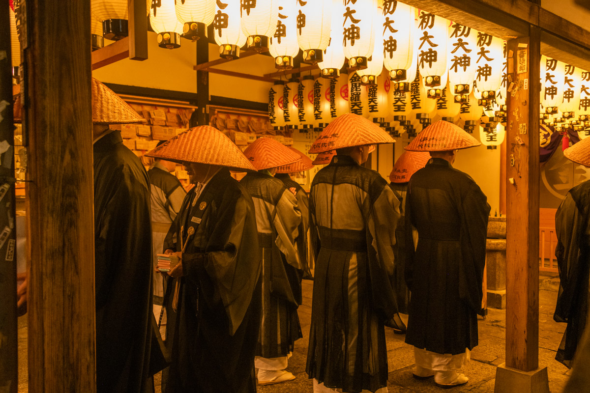 Osaka Monks at Night